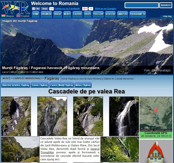 Waterfalls in the Rea valley in Fagaras mountains http://www.welcometoromania.ro/Fagaras/Fagaras_Cascadele_Valea_Rea_r.htm
