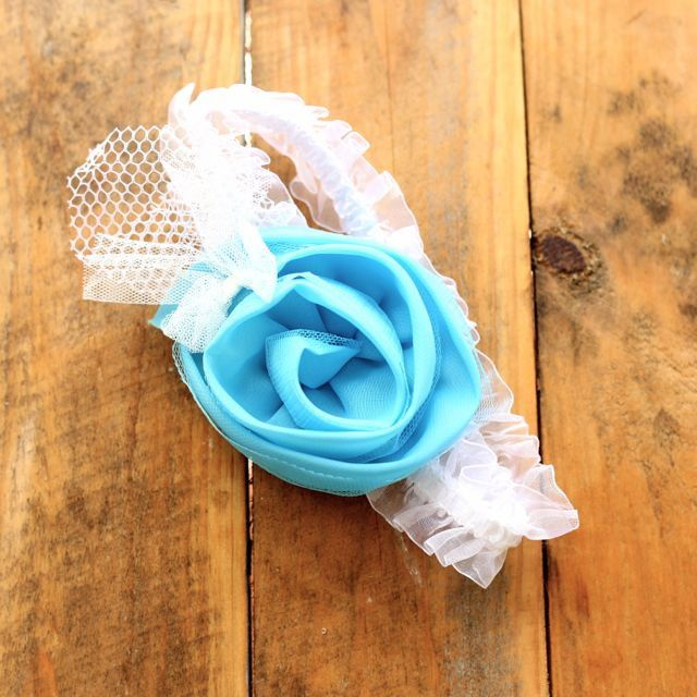Blue Rose Headband from Babe &. Co Vintage items for babies, boys and girls. Based in Australia www.babeandco.com.au  - like on Facebook https://www.facebook.com/babeandco  to join in competitions, sales and more or sign up to our newsletter on the website.
