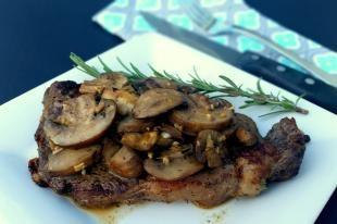 Rib Eye Steak with Sauteed Mushrooms Recipe