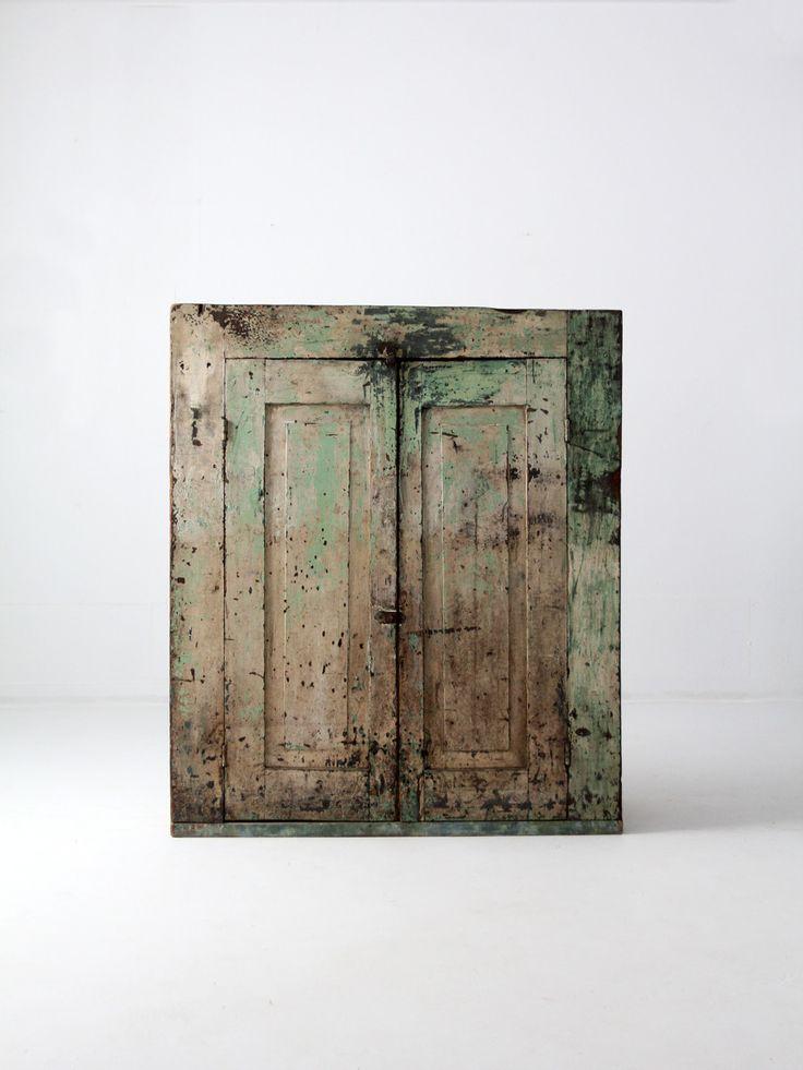 antique primitive jelly cupboard, American cabinet