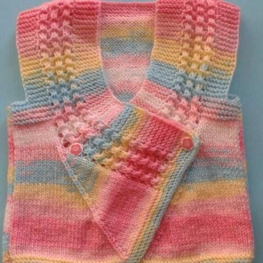 Crochet Baby Girls Vest Autumn Vest Winter West 8 to 16