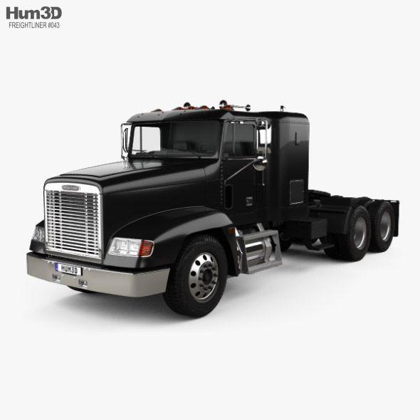 Freightliner Fld 120 Tractor Flat Top Sleeper Cab Truck 1994 Freightliner Trucks Freightliner Trucks