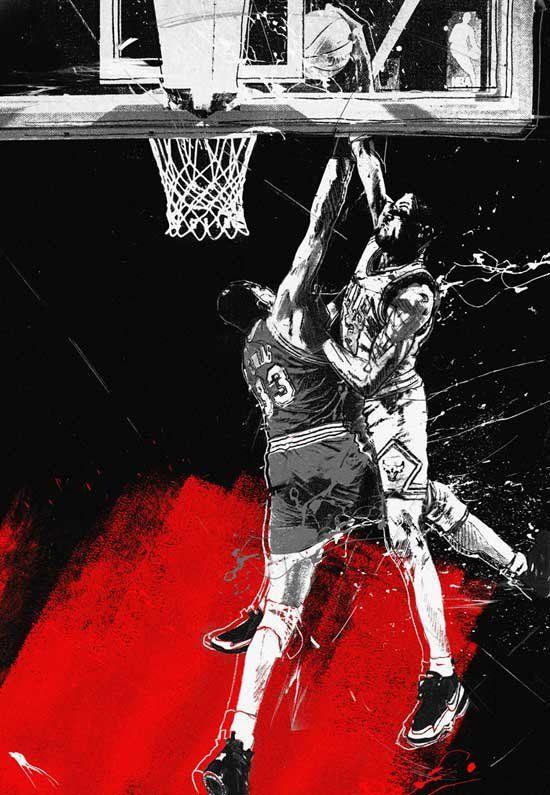 Old School: Scottie Pippen's all-time cram on Patrick Ewing. New School: Jordan Tabije