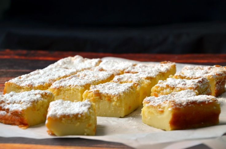 Easy and quick magic custard cake that separates into three layers during baking.