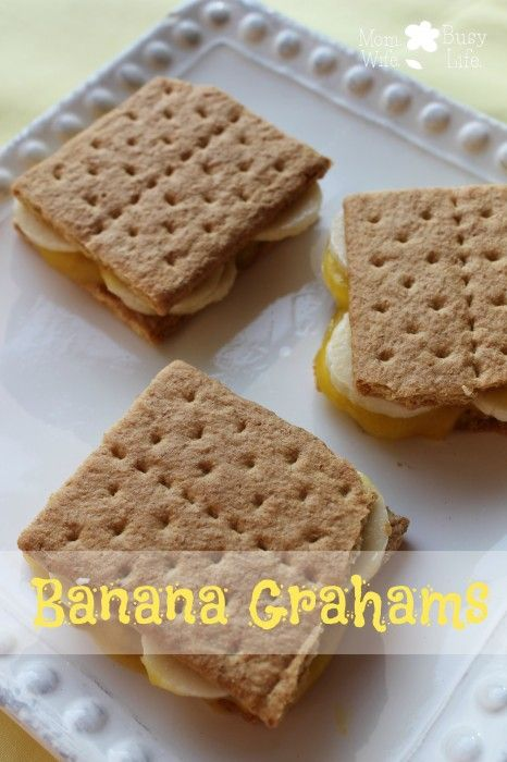 Banana Grahams Recipe - easy snack recipe and great snack for the kids!