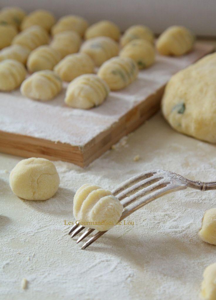 Préparation gnocchis au basilic