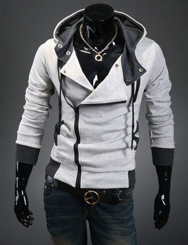 Outdoor Two Tone Asymmetric Zip Hoodie Jacket for Men Fashion   Mens   Fashion   Mens fashion, Hoodies, Fashion ce400cababef