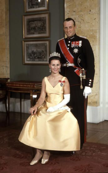 Crown Princess Sonja and Crown Prince Harald of Norway c. 1968