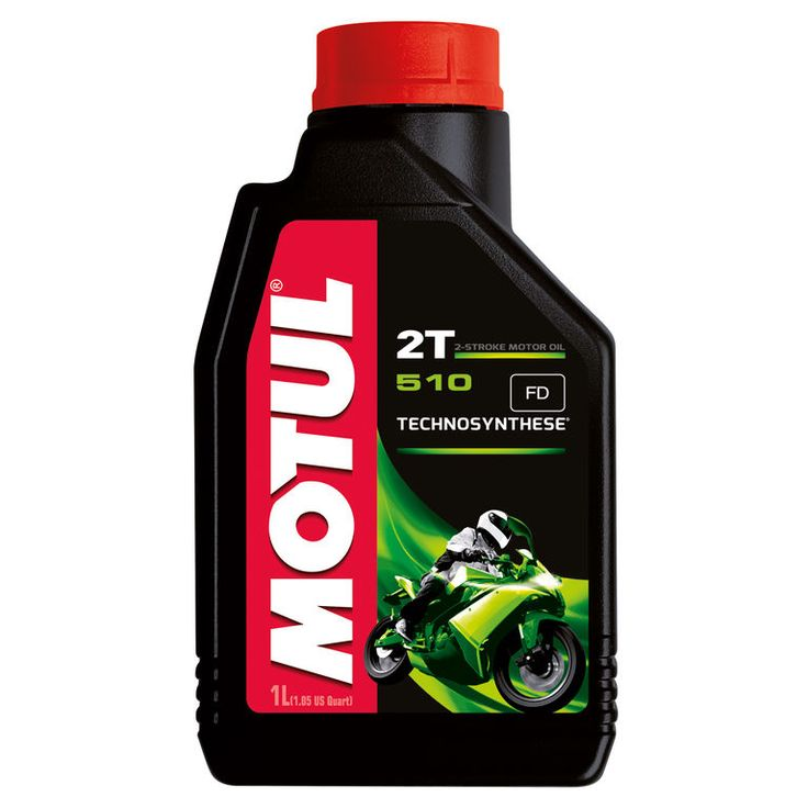 Motul 510 2T Technosynthese.  Available in 1 & 4L.