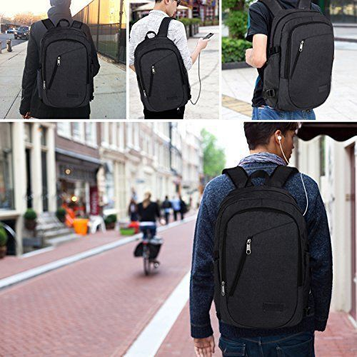 Laptop Backpack Business Bag College School Travel Headphone Port Anti Theft NEW #LaptopBackpack #Backpack