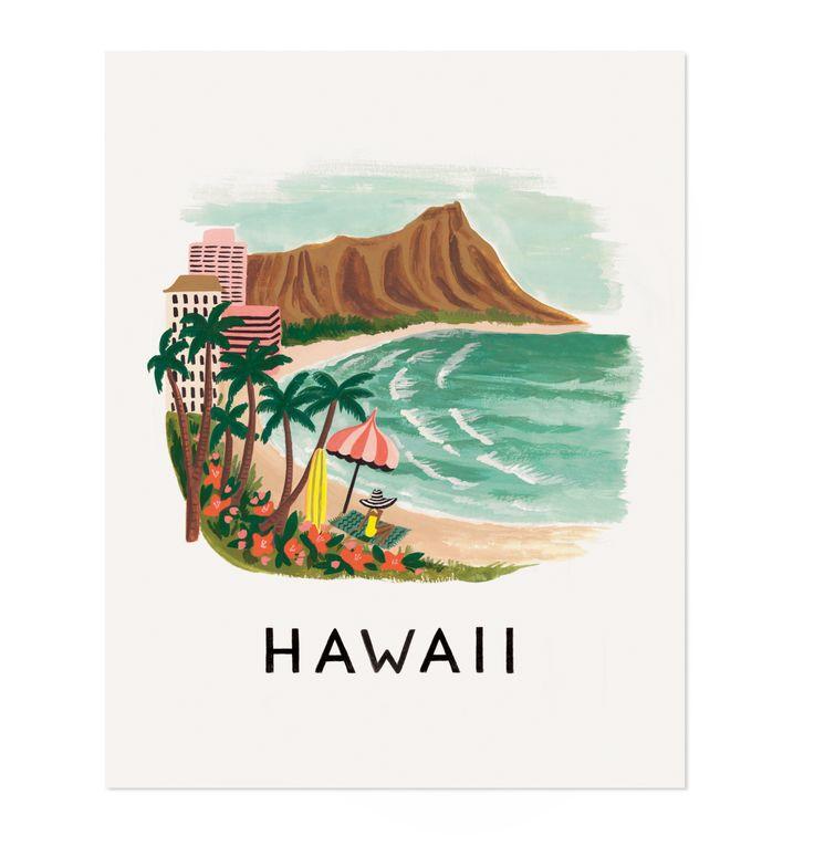 Rifle Paper Company: Hawaii illustrated art print