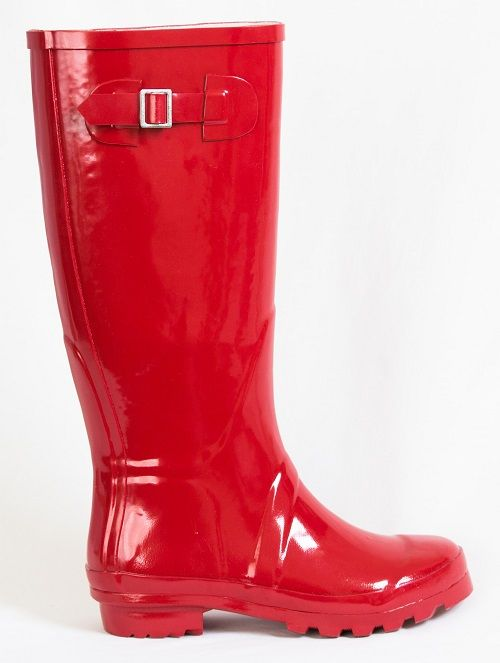 At least you won't be seeing red because your sock are soggy if you're wearing these Rata-flower red gumboots from www.GumbootBoutique.com