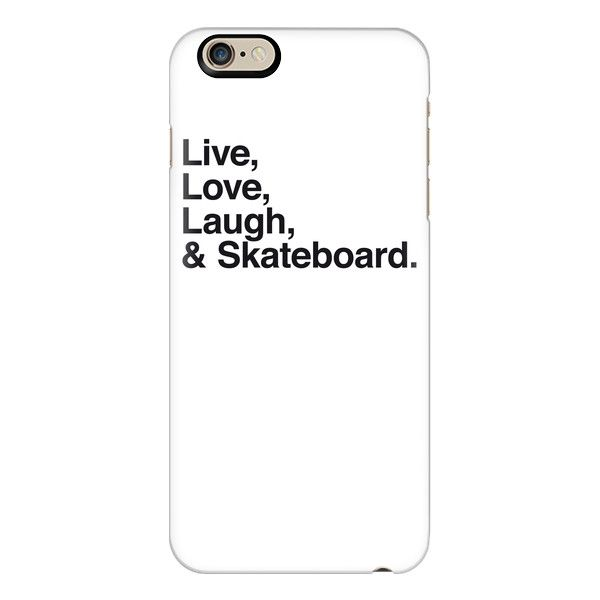 iPhone 6 Plus/6/5/5s/5c Case – Live Love Laugh and skateboard