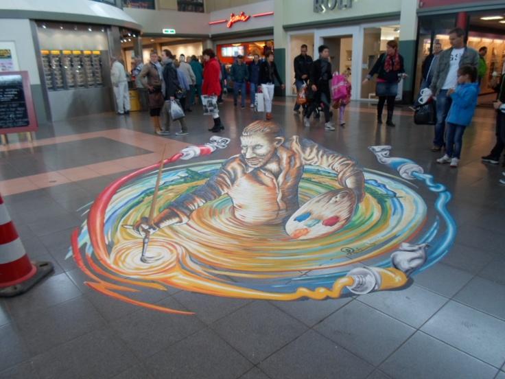 Etten-Leur mei 2013, optical illusion, 3D streetart