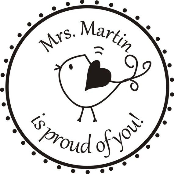 Rubber Stamp - We did this for O's teacher last year.  She loved it!
