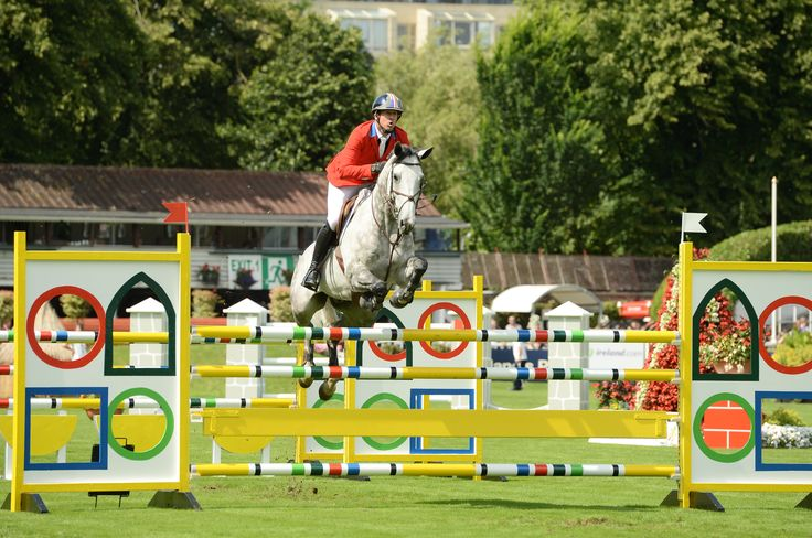 Taking the jumps at the Dublin Horse Show