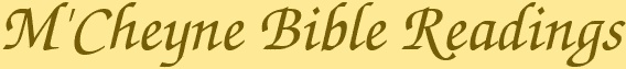 M'Cheyne Bible Reading schedule printables, including Don Carson's version