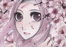 cherry blossoms and big eyes