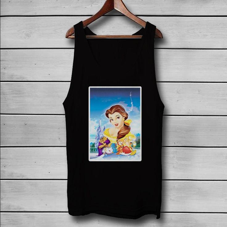Beauty and The Beast Disney Custom Tank Top T-Shirt Men and Woman