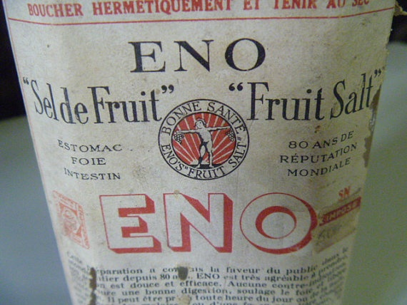 Rare  1930's  Eno Fruit Salts Bottle with by JanniesJunkandJems, €18.00