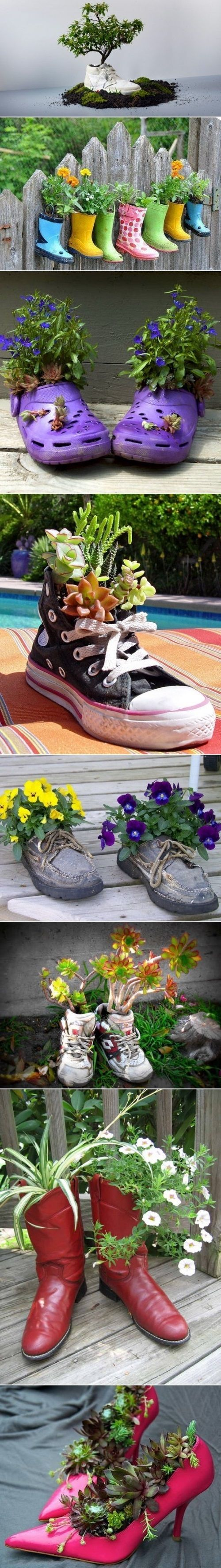 Get planting with old Shoes  wellies! #homesfornature