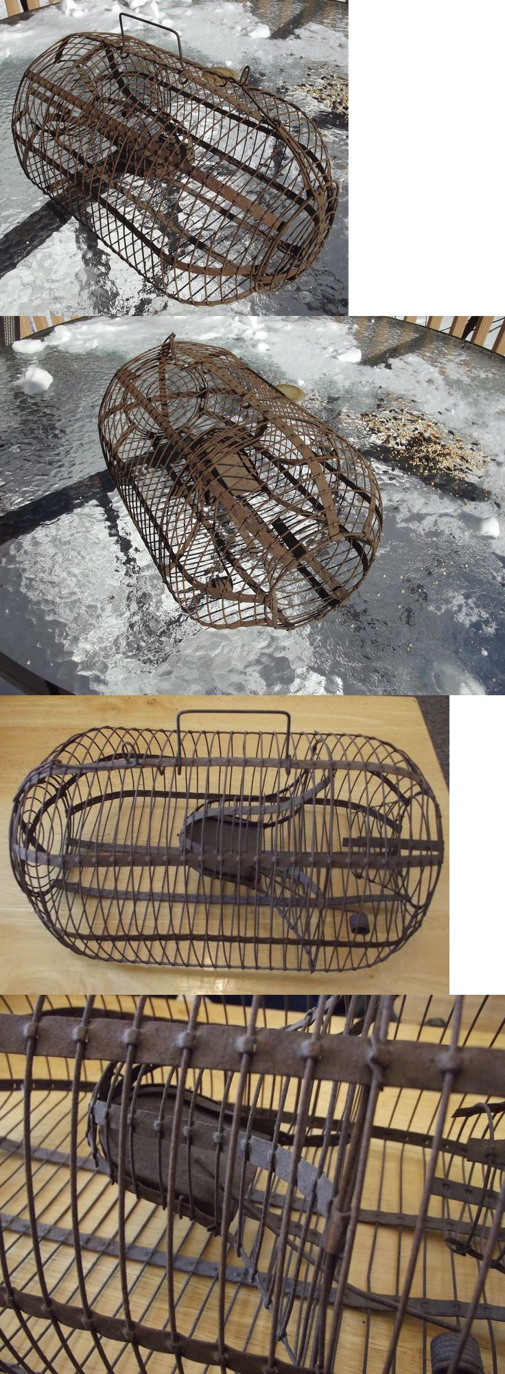 Vintage Traps 71143: Antique Mouse Trap Large 15 3/8 Mouse And Rat Live Cage Trap Early1900s BUY IT NOW ONLY: $85.0
