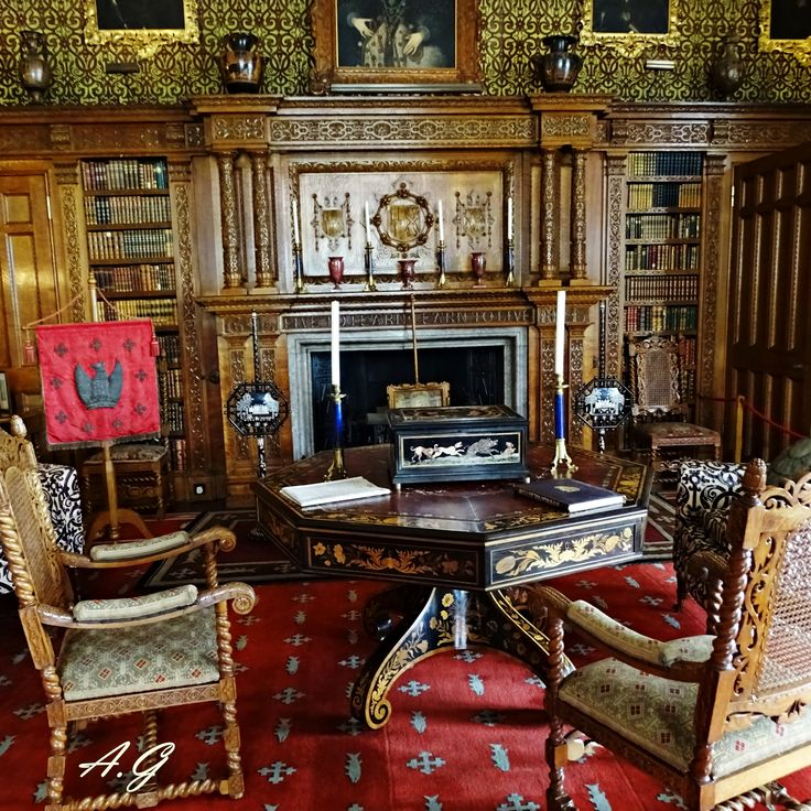 Victorian library room- Charlecote House