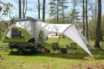 The SylvanSport GO camping trailer. This would be great for camping with a small car.......
