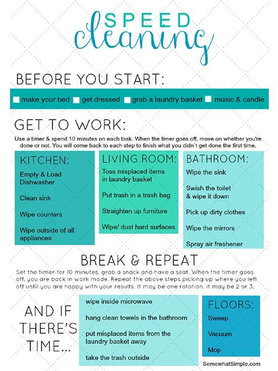 Pretty Printable Checklists That Will Make Cleaning Feel Less Like a Chore