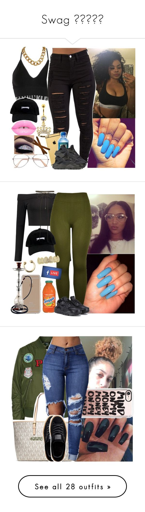 """""""Swag """" by jchristina ❤ liked on Polyvore featuring Calvin Klein Underwear, Goldgenie, NIKE, Boohoo, New Look, Agent 18, Topshop, Casetify, MICHAEL Michael Kors and Puma"""