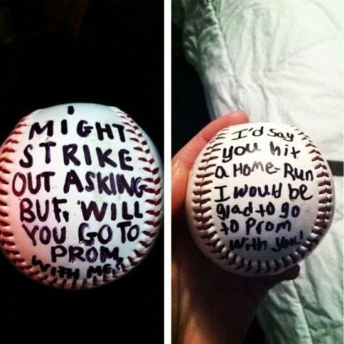 I would love a guy to do this to me b/c i'm a softball girl. The 25 Best Prom Proposals of All Time.
