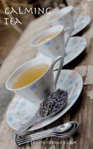 Lavender Tea... Ingredients 3 cups of hot water One handful of fresh lemon balm. (Substitute mints or a couple of tea bags.) Two tablespoons fresh or dried lavender flow...