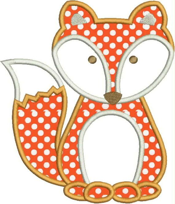 Fox Applique Design by AppliqueChick on Etsy, $4.00