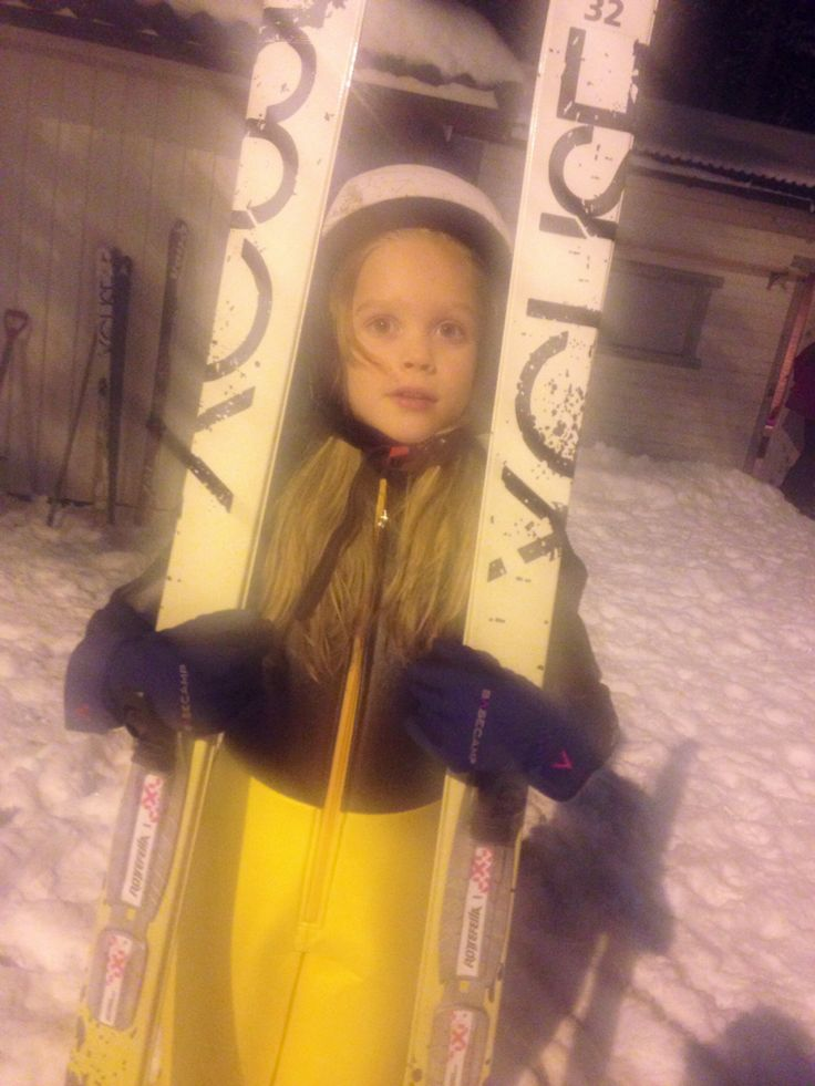 My youngest daugther, Tilde #skijumping #norway #winter