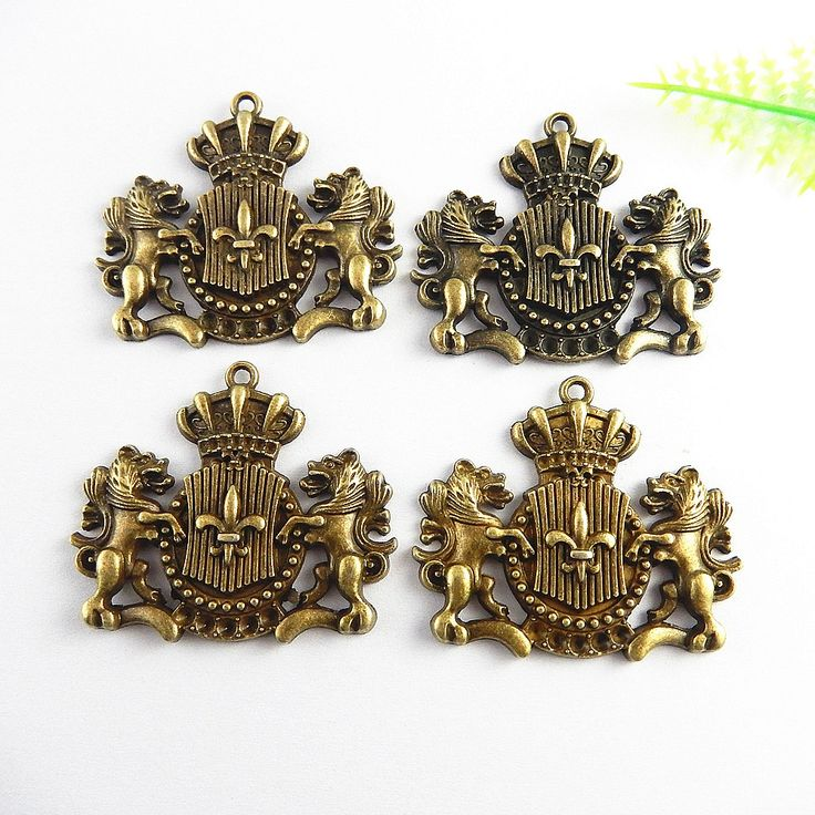 5pcs/lot Causal Antique Bronze Football Sign Pendant Charms Necklace&Bracelet 44*38mm Religious Jewelry Fine Gifts Crafts 51240
