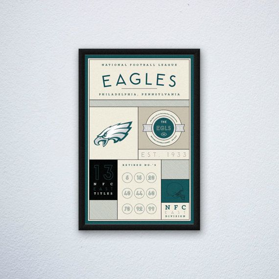 Philadelphia Eagles Stats Print by DesignsByEJB on Etsy