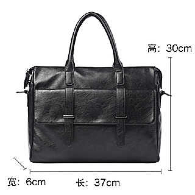 """Buy Designer Men bag 14 inch laptop pu leather messenger bags men briefcases in Singapore,Singapore. New piece only open the packaging to check. Selling as it came as a gift.  Size: 37x30cm (see image)  - Accept cash via meet up only - No trade - Click """"chat to Chat to Buy"""