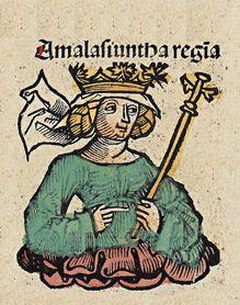 (30) 495 – Nace Amalasunta, reina de los ostrogodos. Hija del rey ostrogodo Teodorico el Grande, se casó en secreto con un esclavo de nombre Traguilla, que fue ejecutado cuando la madre de Amalasunta les sorprendió juntos. En 515 fue casada con Eutarico, un noble ostrogodo que había vivido anteriormente en la Hispania visigoda. Al parecer, su marido murió en los primeros años tras el matrimonio, dejándola con dos hijos: Atalarico y Matasuenda.