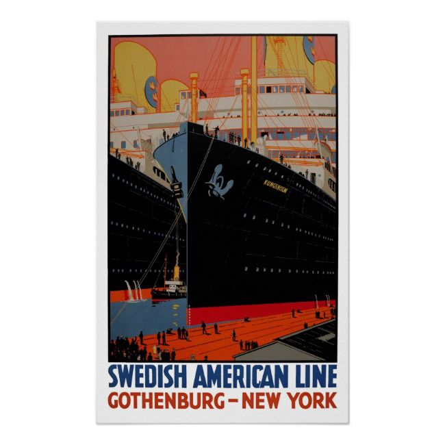 Vintage Travel Poster – United States Gothenburg | Zazzle.com