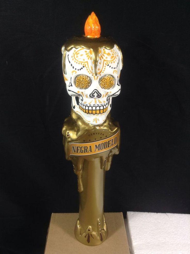 Negra Modelo Beer Tap Handle Los Muertos Sugar Skull Day Of The Dead New In Box Beer Tap