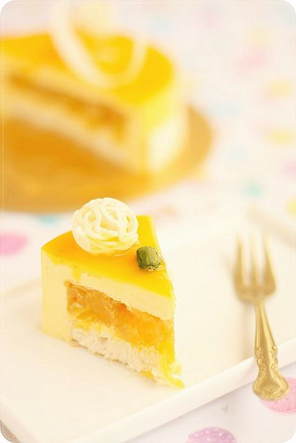 Mango Cheese Mousse Cake by bossacafez, via Flickr