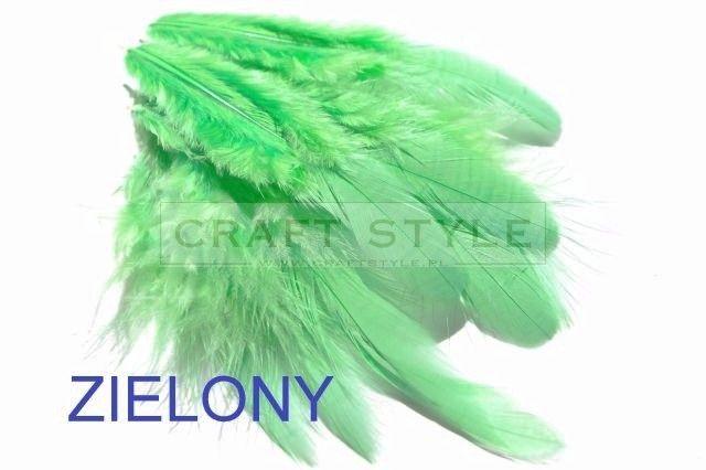 GALANTE  pióra piórka 10szt kolor JASNA ZIELEŃ