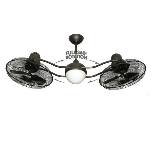 Outdoor Double Oscillating Ceiling Fans Dle Destek Com In 2020 Ceiling Fan With Light Dual Ceiling Fan Caged Ceiling Fan
