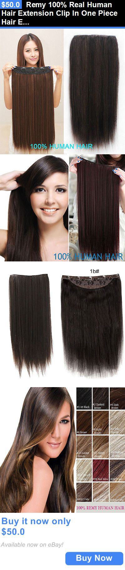 Hair Extensions Remy 100 Real Human Extension Clip In One Piece