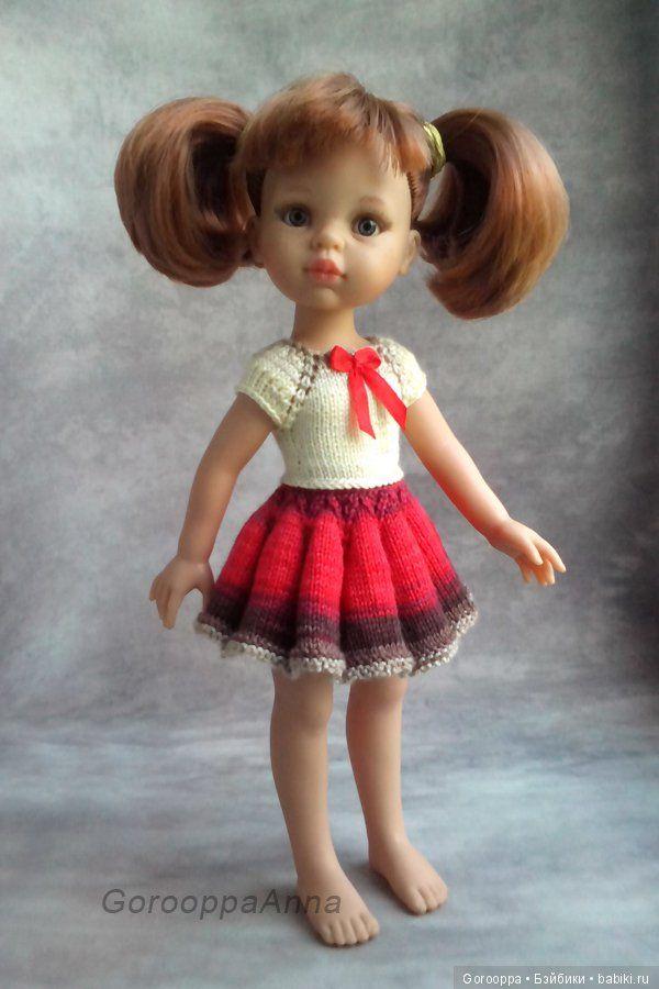 Вязаное платье для куклы Paola Reina (Паолка), Corolle, Antonio Juan, Berjuan и подобных 32-34 см / Одежда для кукол / Шопик. Продать купить куклу / Бэйбики. Куклы фото. Одежда для кукол