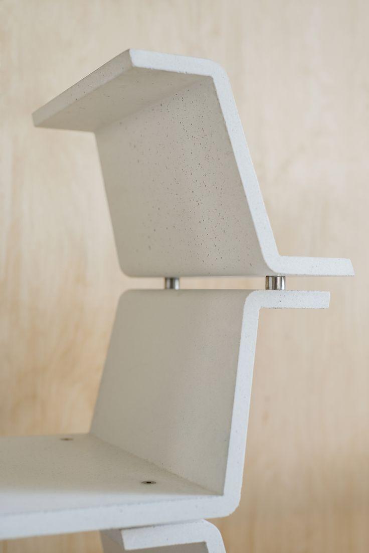 fiber enforced concrete shelving system⎹ velb.cz