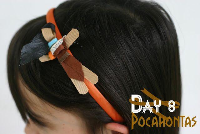 Day 8: Pocahontas Disney Inspired Princess Ribbon Sculpture Pattern