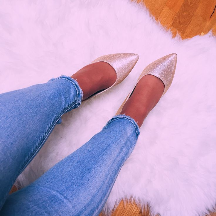 My beautiful gold pointed heels