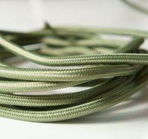 Textilkabel - Olivgrön