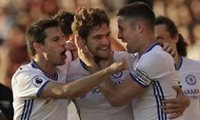 AFC Bournemouth 1 - 3 ChelseaCompetition: Premier LeagueDate: 8 April 2017Stadium: Vitality Stadium (Bournemouth, Dorset)AFC BOURNEMOUTH GoalKing 42'CHELSEA GoalsSmith 17' (o.g.), Hazard 20', Alonso 68'